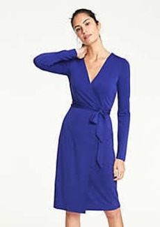 Ann Taylor Matte Jersey Wrap Dress