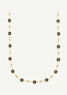 Ann Taylor Matte Metal Station Necklace