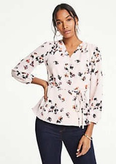 Ann Taylor Meadow Floral Wrap Top