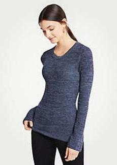 Ann Taylor Melange Flare Sleeve Sweater