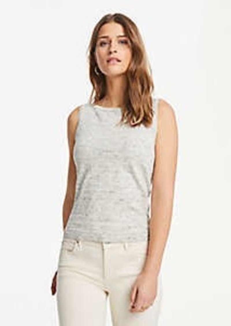 Ann Taylor Melange Linen Blend Sweater Shell