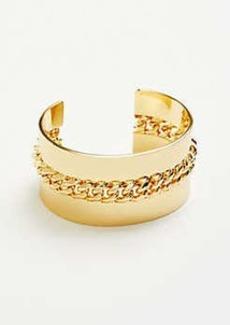 Ann Taylor Metal Chain Cuff Bracelet