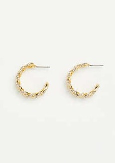 Ann Taylor Metal Chain Hoop Earrings