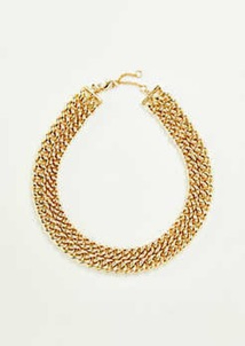 Ann Taylor Metal Chain Necklace