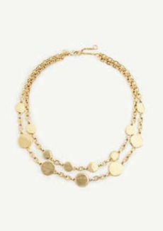 Ann Taylor Metal Circle Statement Necklace