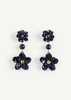 Ann Taylor Metal Flower Drop Earrings