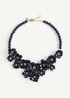 Ann Taylor Metal Flower Statement Necklace