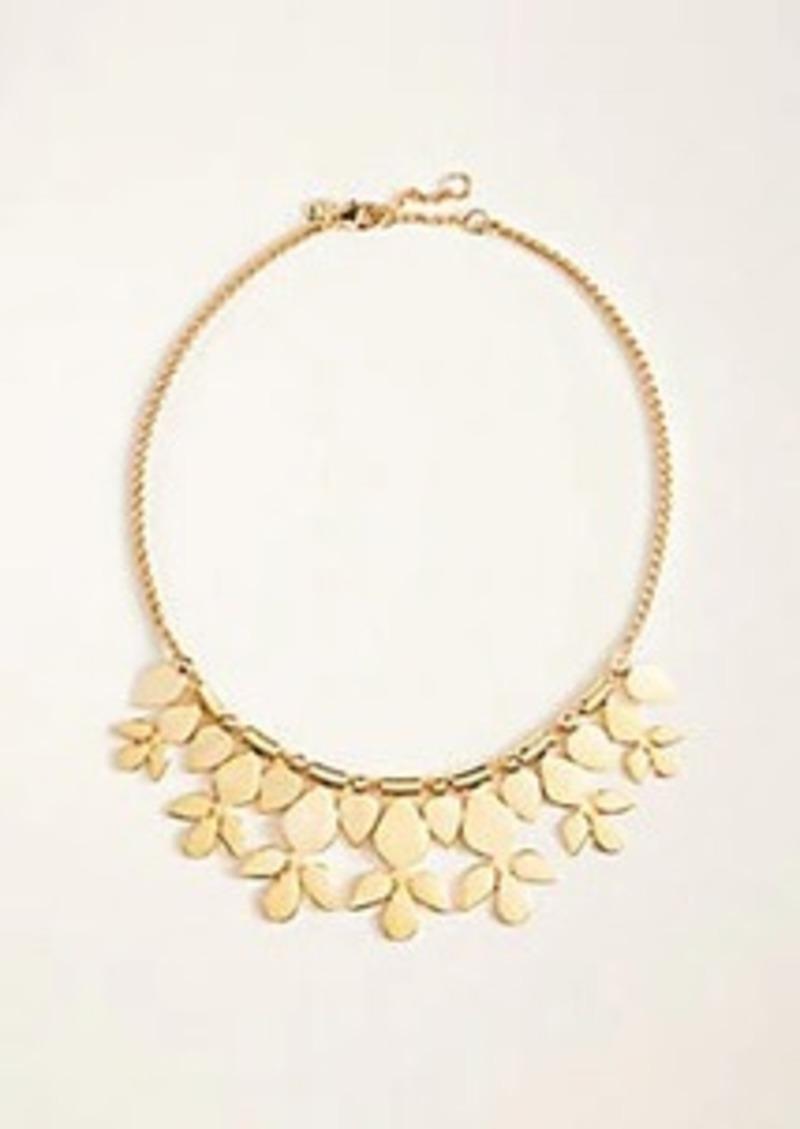 Ann Taylor Metal Flower Statement Necklace