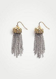Ann Taylor Metal Flower Tassel Earrings