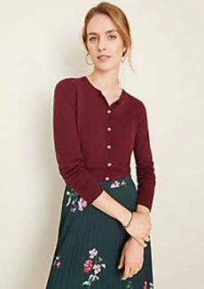 Ann Taylor Metallic Button Ann Cardigan