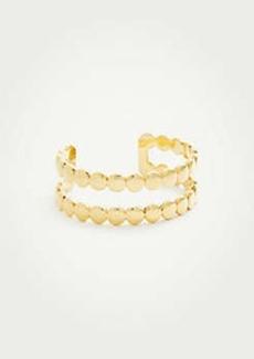 Ann Taylor Metallic Circle Cuff Bracelet