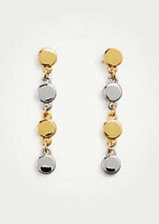 Ann Taylor Metallic Circle Drop Earrings