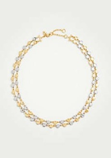 Ann Taylor Metallic Circle Necklace