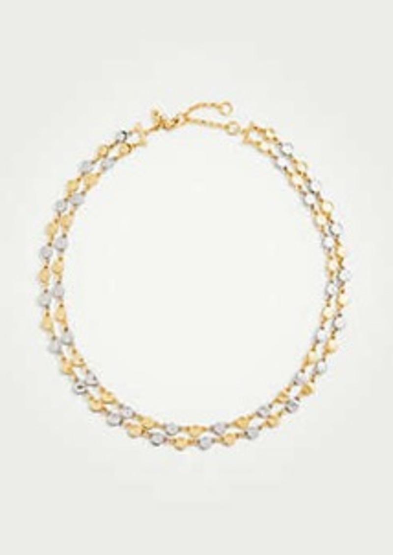 Ann Taylor Metallic Circle Necklace