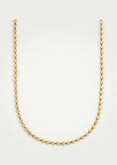 Ann Taylor Metallic Circle Station Necklace