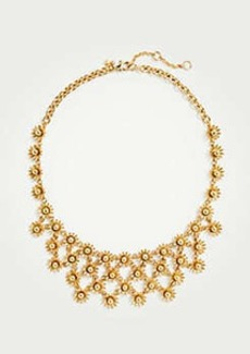Ann Taylor Metallic Daisy Statement Necklace