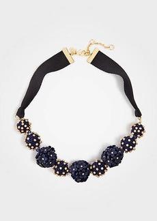 Ann Taylor Metallic Floral Ball Necklace