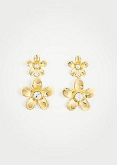 Ann Taylor Metallic Flower Drop Earrings