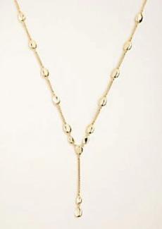 Ann Taylor Metallic Nugget Lariat Necklace