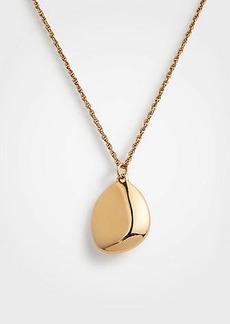 Ann Taylor Metallic Nugget Pendant Necklace