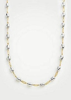 Ann Taylor Metallic Nugget Station Necklace