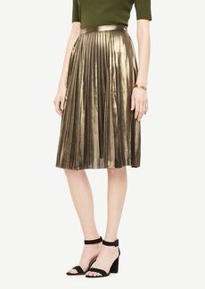 Ann Taylor Metallic Pleated Skirt