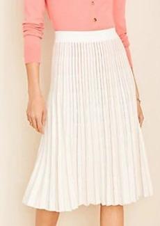 Ann Taylor Metallic Pleated Sweater Skirt