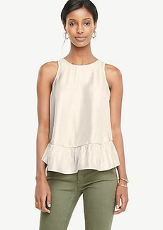 Ann Taylor Metallic Ruffle Swing Top