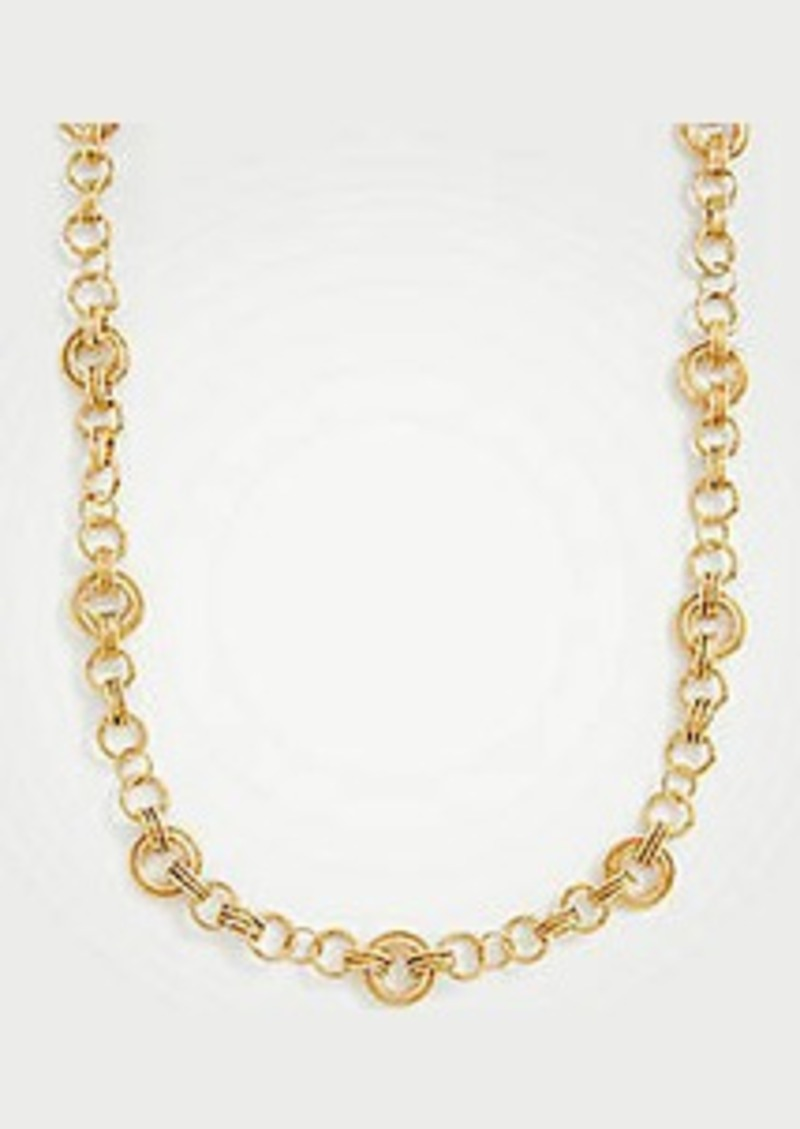 Ann Taylor Metallic Station Necklace