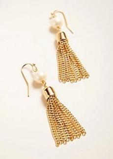 Ann Taylor Metallic Tassel Earrings
