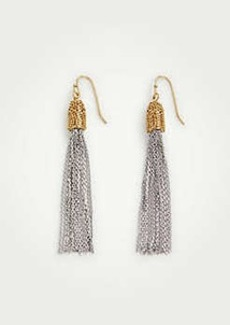 Ann Taylor Metallic Tassel Earrings