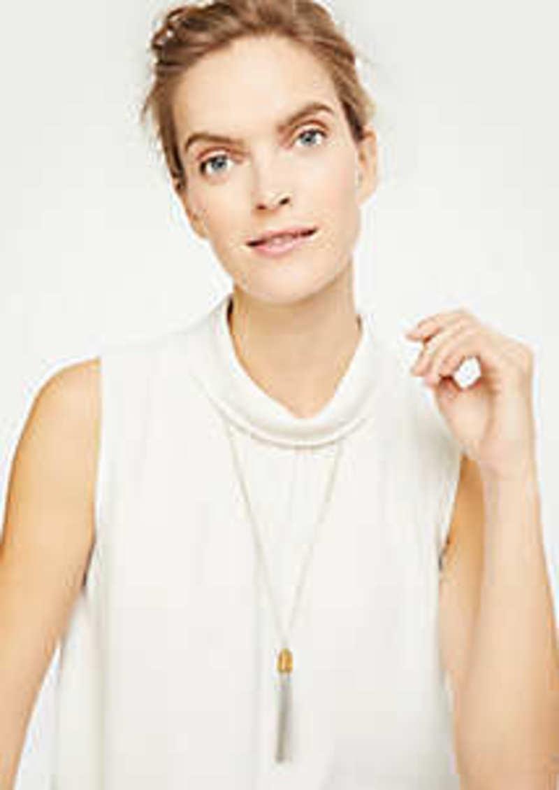 Ann Taylor Metallic Tassel Pendant Necklace