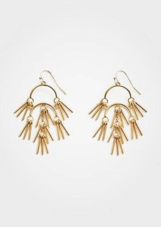 Ann Taylor Metallic Tassel Statement Earrings
