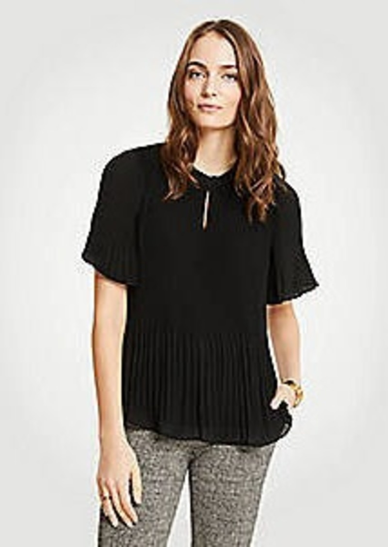 Ann Taylor Micro Pleat Top