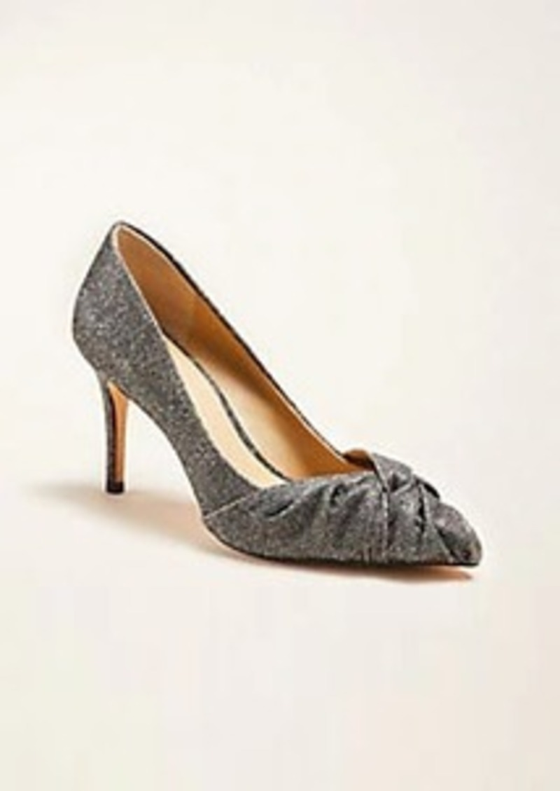 Ann Taylor Mila Glitter Knotted Pumps
