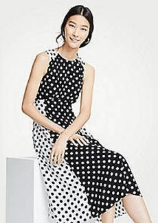 Ann Taylor Mixed Dot Flare Dress