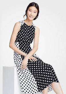 Ann Taylor Mixed Dot Flare Dress