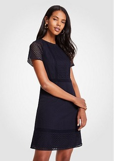 Ann Taylor Mixed Eyelet Shift Dress