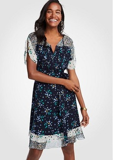 Ann Taylor Mixed Floral Flounce Dress