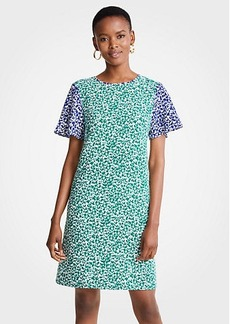 Ann Taylor Mixed Floral Shift Dress