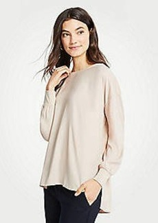 Ann Taylor Mixed Media Boatneck Tunic