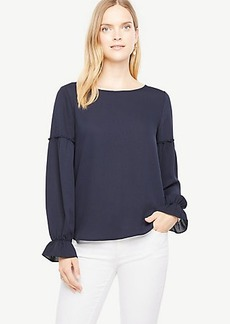 Ann Taylor Mixed Media Ruffle Cuff Popover
