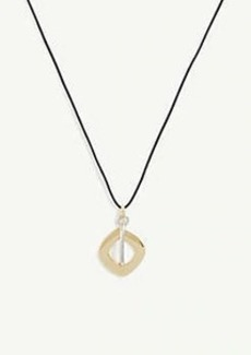 Ann Taylor Mixed Metal Geo Pendant Necklace