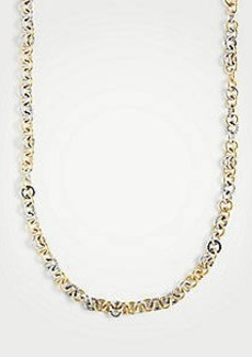 Ann Taylor Mixed Metallic Ring Necklace