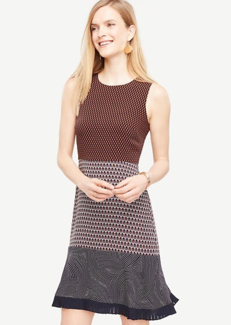 d0f8d51ab62 Ann Taylor Mixed Print Flounce Dress