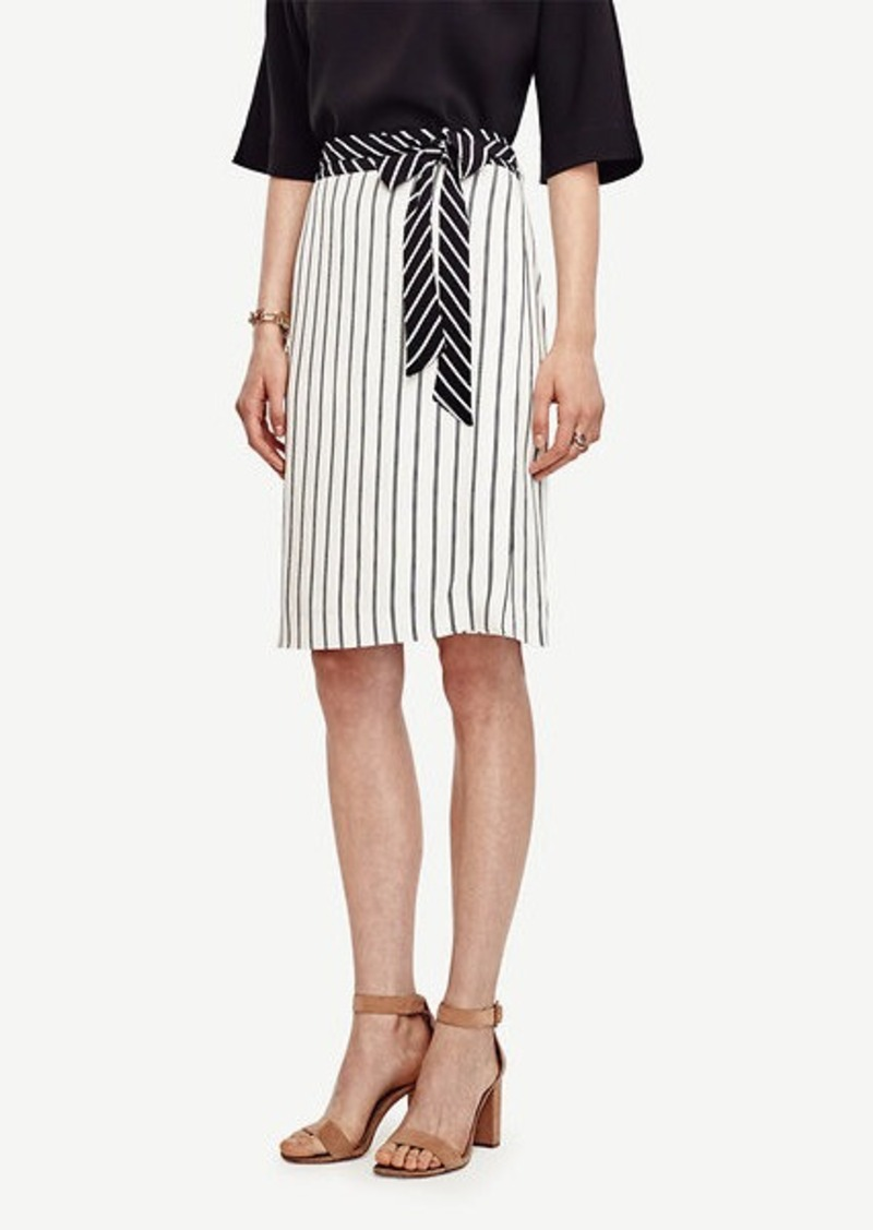 Ann Taylor Mixed Stripe Full Skirt