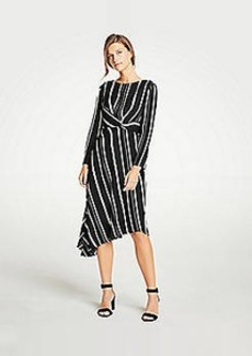 Ann Taylor Mixed Stripe Knot Flare Dress