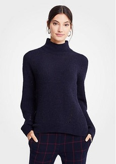 Ann Taylor Mock Neck Boucle Sweater
