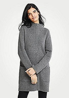 Ann Taylor Mock Neck Coatigan