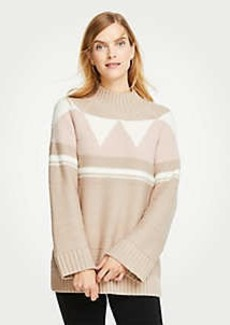Ann Taylor Mock Neck Fair Isle Sweater